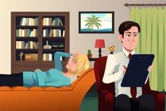 Psychiatra pracuje z pacjentem Obrazy Royalty Free