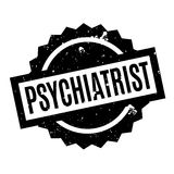 Psychiatrist rubber stamp. Grunge design with dust scratches. Effects can be easily removed for a clean, crisp look. Color is easily changed Stock Photography