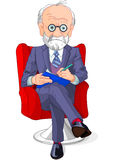 Psychiatrist. At a session of psychoanalysis Royalty Free Stock Photo