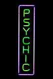 Psychic Neon Sign Royalty Free Stock Photo