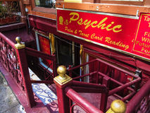 Psychic Reader. A psychic reading store fron t in Manhattan Stock Image