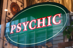 Psychic Sign. A psychic sign in New York City Stock Photo