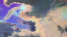 Psychiczne promieniotwórcze chaos chmury zbiory wideo