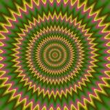 Psychiczny kwiecisty wzór wytwarzająca tekstura Obraz Stock