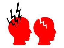 Psychische Gesundheit - Hirnschaden, Schmerzkopfschmerzen Lizenzfreies Stockbild
