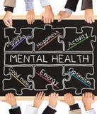 Psychische Gesundheiten lizenzfreie stockbilder