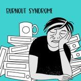 Psychische Gesundheiten Burnoutsyndrom Geistesstörung Vektor illustr vektor abbildung