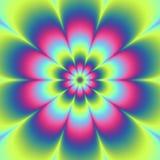 Psycho bloemenpatroon geproduceerde textuur Stock Afbeeldingen