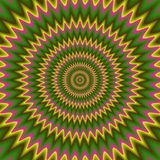 Psycho bloemenpatroon geproduceerde textuur Stock Afbeelding