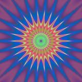 Psycho bloemenpatroon geproduceerde textuur Stock Fotografie