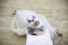 Psycho bride Royalty Free Stock Images