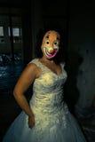 Psycho bride Stock Photo