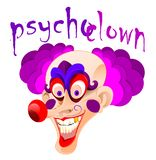 Psycho Clown. Laughing hysterical a crazy and scary laugh. Joke murderer in disguise Royalty Free Stock Image