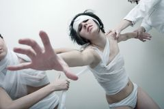 Psycho girl Stock Images