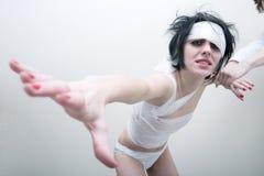 Psycho girl Royalty Free Stock Image
