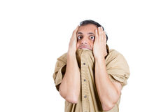 A psycho guy depressed in life Royalty Free Stock Image