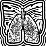 Psycho Smoke - vector illustration with lungs Royalty Free Stock Photos