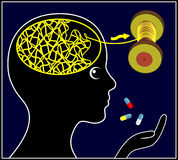 Psychoactive Drugs for Treatment Royalty Free Stock Images