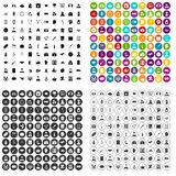 100 psychoanalyse icons set vector variant. 100 psychoanalyse icons set vector in 4 variant for any web design isolated on white Royalty Free Stock Image