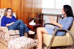 Psychoanalysis. Latin women visting a psychologist Royalty Free Stock Image