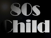 Psychodelic 80s Child LED Light Text Stock Images