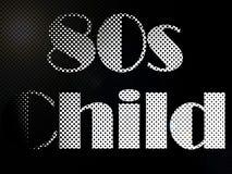 Psychodelic 80s Child LED Light Text Stock Images