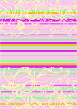 Psychodelic flower striped. Ornament with twisted colours and strips in retrostyle Stock Photos