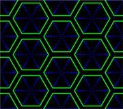 Psychodelic hexagonal texture Royalty Free Stock Photo
