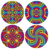 Psychodelic Pattern Set Royalty Free Stock Image
