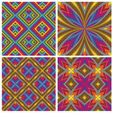 Psychodelic Pattern Set Royalty Free Stock Photography