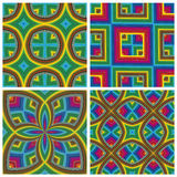 Psychodelic Pattern Set Stock Photo