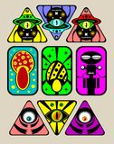 Psychodelic stickers Stock Images