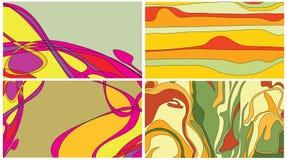 Psychodelic Visitenkarte der Reggae vektor abbildung