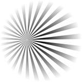 Psychodeliczna spirala z promieniowymi promieniami, twirl, kręcony komiczny skutek, vortex tła ilustracja wektor