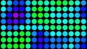 Psychodeliczne Barwione kropki na Czarnym HD ilustracja wektor