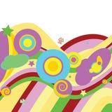 psychodeliczny abstrakcyjne tło Obrazy Stock