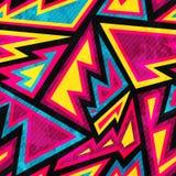 Psychodeliczny barwiony geometryczny bezszwowy wzór ilustracja wektor