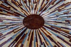 Psychodeliczny barwiony promienia tło ilustracja wektor