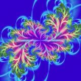 Psychodeliczny 3D abstrakcjonistyczny projekt Kwiatonośna gałąź, fractal sztuka royalty ilustracja