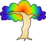 psychodeliczny drzewo Obrazy Stock