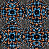 Psychodelicznych zawijasów geometryczny bezszwowy wzór, wektorowy tło Fotografia Stock