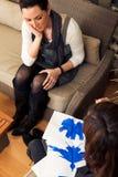 Psycholog Robi Rorschach testowi Zdjęcia Royalty Free