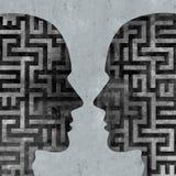 Psychologia komunikacja ilustracja wektor