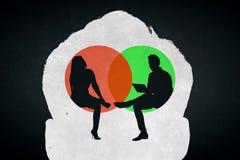 Psychologic verschilconcept Vector Illustratie