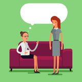 Psychological counseling concept. vector illustration