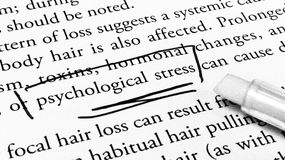 Psychological stress. The word of psychological stress Royalty Free Stock Image