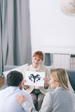 Psychological tests are starting work therapist Royalty Free Stock Photography