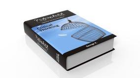 Psychologie de livre relié avec l'illustration sur la couverture Photographie stock libre de droits