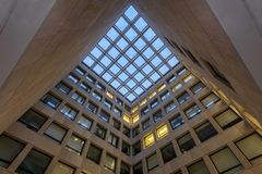 Psychologie-Gebäude-Mitte-Gericht Lizenzfreies Stockbild