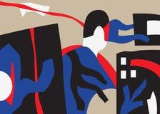 Psychologie - illustration abstraite de vecteur Photo libre de droits